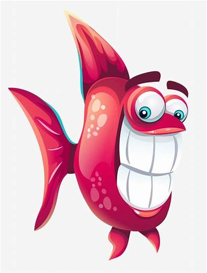 Fish Funny Clipart Cartoon Background Character Transparent