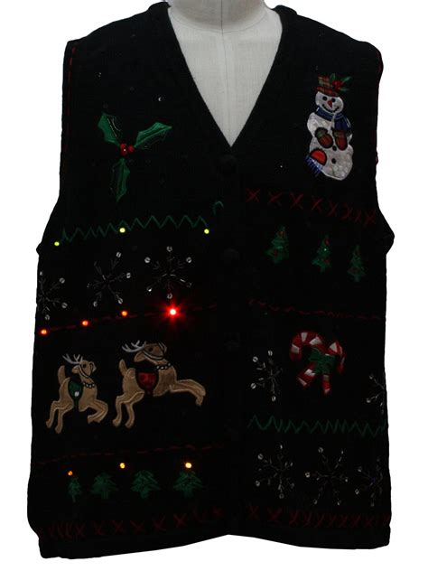 lightup sweater vest basic editions