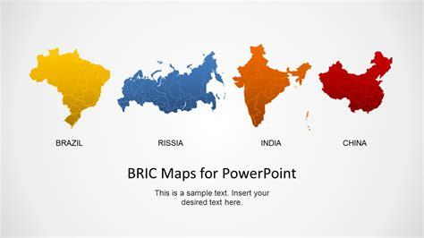 bric maps template  powerpoint slidemodel