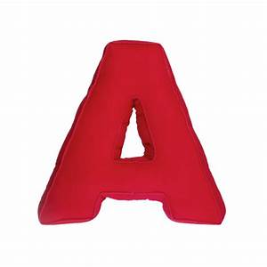 Fabric letter A, red