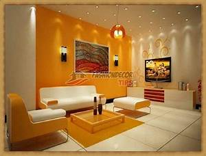 Modern living room wall color with two