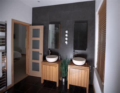 sleek gray tiles modern bathrooms lonny