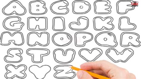 How To Draw Bubble Letters Step By Step Easy For Beginners