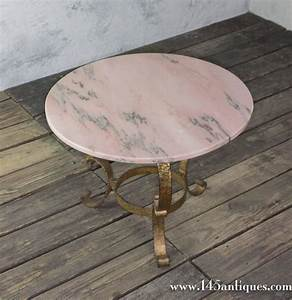 Small round coffee table with marble top for sale at 1stdibs for Small round marble top coffee table