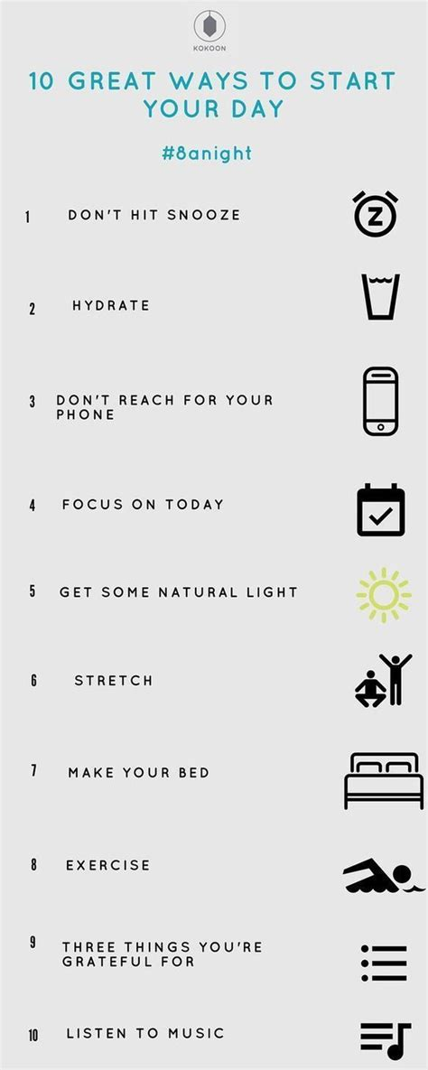 10 Great Ways To Start Your Day  Living Your Best