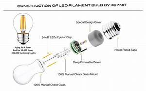 Keymit G14 4w Ul-e492997 Led Globe Bulb - Dimmable With 90  Types Of Dimmers