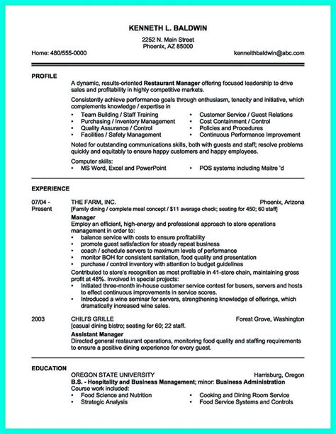 Need A Resume Template by Your Catering Manager Resume Must Be Impressive To Make