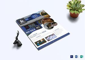 real estate flyer designs templates  word psd publisher