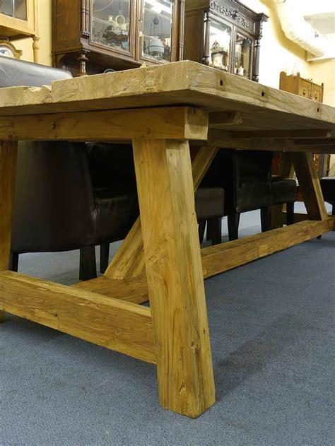 tisch schräge beine esstisch tisch esszimmertisch teakhholz massiv 12 personen 2710 tische esstische