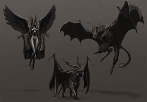 Gargoyle Designs Rough by rob-powell on DeviantArt