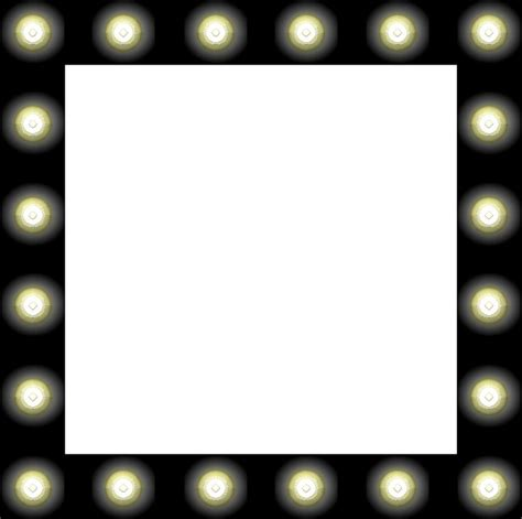 mirror with light bulbs clip clipart