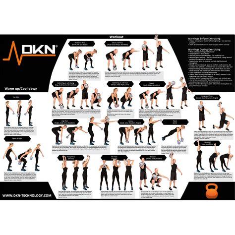 kettlebell weight 8kg vinyl chart exercise dkn kettlebells sweatband