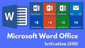 Activate Word Office All Versions 2018