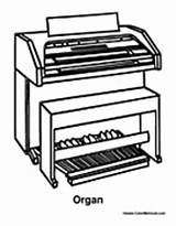 Organ Instrument Coloring Pages Upright Colormegood sketch template