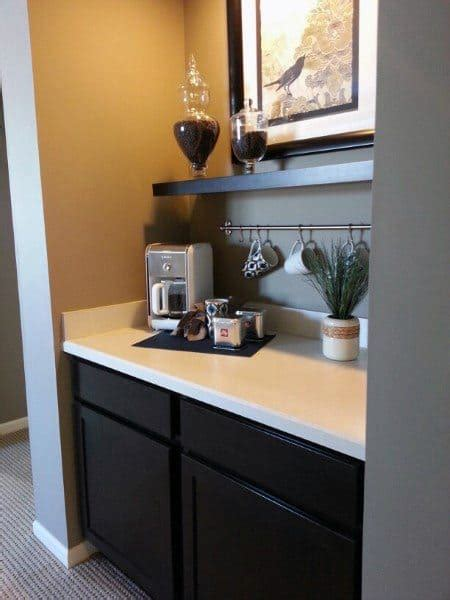 7 smart ideas for organizing your kitchen coffee bar. Top 60 Best Coffee Bar Ideas - Cool Personal Java Cafe Designs