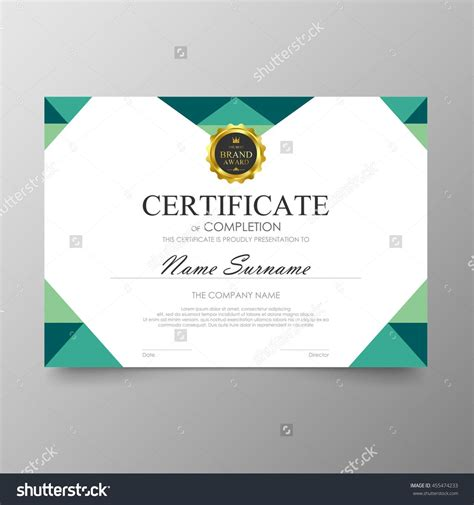 green certificate template awards diploma background