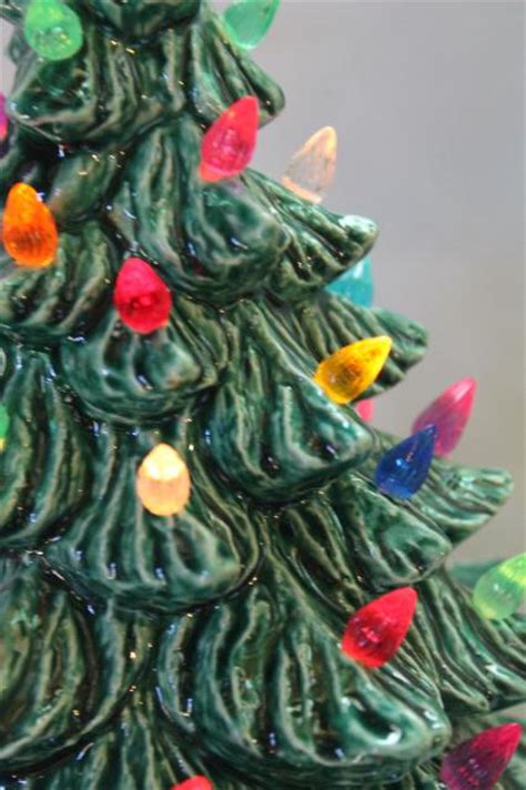 retro ceramic tree lighted electric tabletop