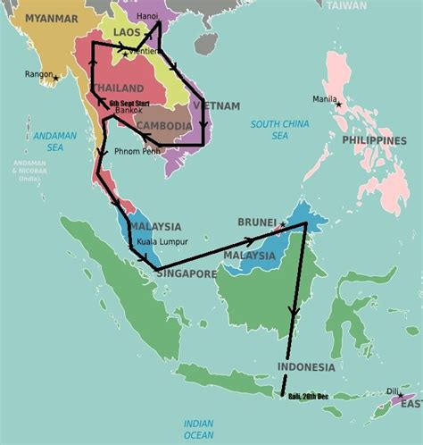 southeast asia backpacking route southeast asia