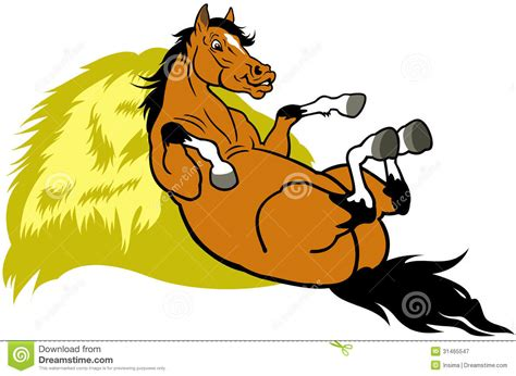 Resting Cartoon Horse Stock Vector. Illustration Of Horse