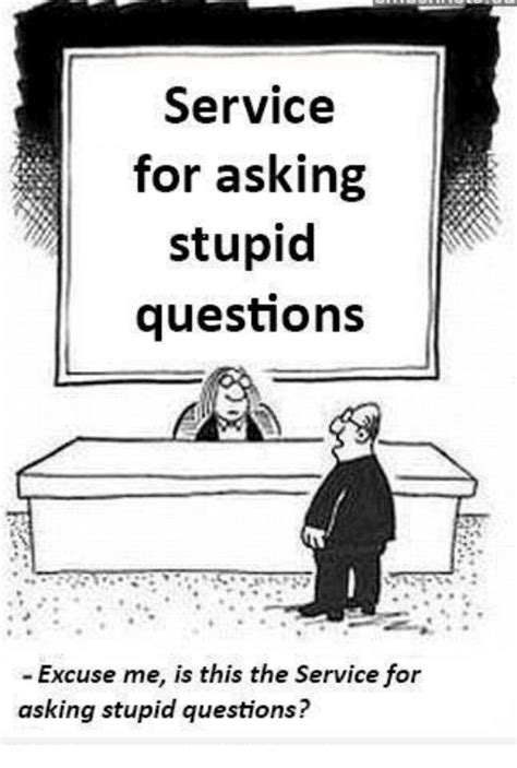 service   stupid questions excuse