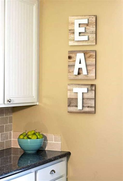 Diy Decorating Ideas For Kitchen by 16 Stunning Kitchen Wall Decorating Ideas Futurist
