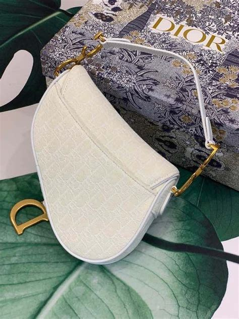 christian dior saddle bag cm oblique embroidered canvas gold hardware canvas springsummer
