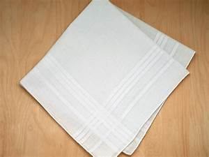 Set of 6 Mens Handkerchiefs with Satin Stripes