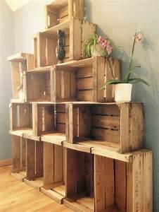 Cagette En Bois : tag res en cagettes en bois pour la salle de bain r alisations meubles persos pinterest ~ Teatrodelosmanantiales.com Idées de Décoration
