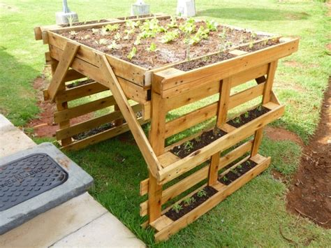 wooden pallet herb planter pallet ideas recycled