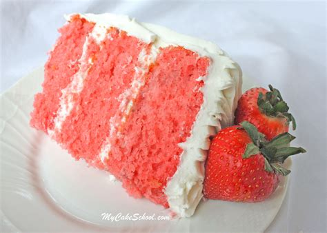 recipes for strawberries strawberry cake doctored cake mix recipe my cake school