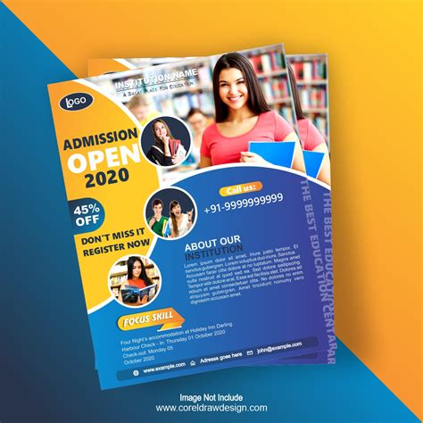 college admission flyer template design