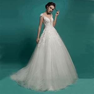 Fw937 vintage lace sexy see through top wedding dresses for Top wedding dresses 2017