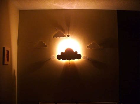Diy Cloud Wall Night Light For A Nursery Room