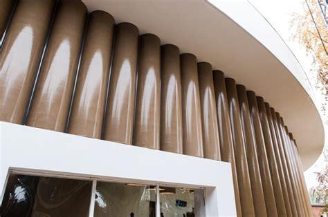 shigeru ban unveils temporary cardboard pavilion for