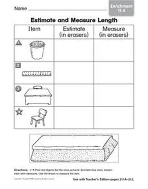 estimate and measure length enrichment graphic organizer for 1st 2nd grade lesson planet