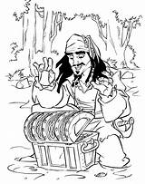Coloring Pirates Caribbean Pages Jones Davy Hidden Treasures Heart Printable Kraken Dutchman Flying Movies Carribean Coloringtop Sparrow Jack sketch template
