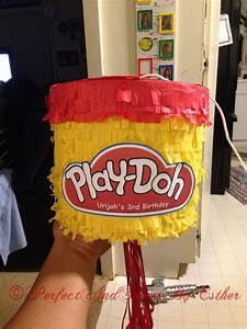 Play-doh piñata | PerfectAndSweetByEsther | Pinterest