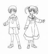 Uniform Drawing sketch template