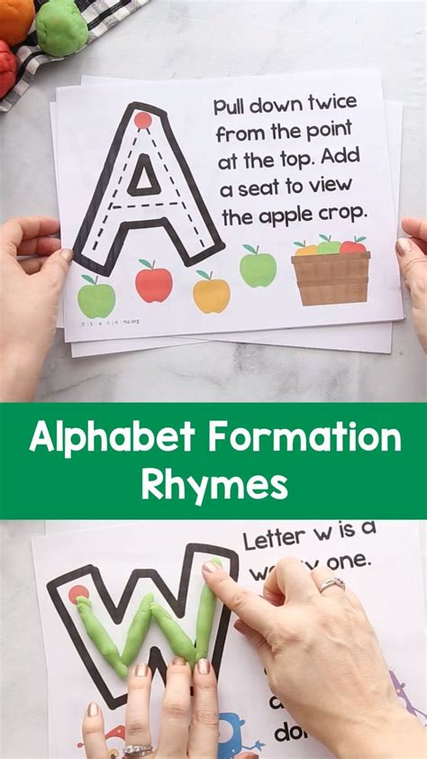uppercase alphabet formation rhymes writing