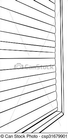 Outline of closed window blinds. Illustration of window