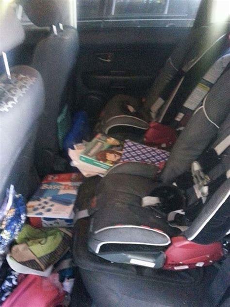 messy car backseats    belong  parents
