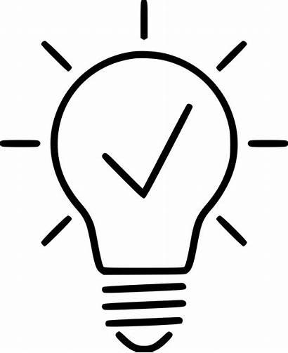 Bulb Idea Icon Creative Innovation Svg Icons