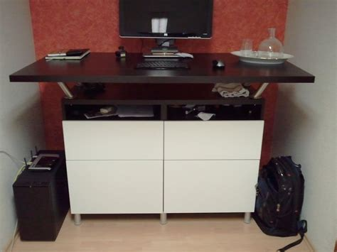 l shaped desk ikea hack beautiful standing desk made from besta cabinets and