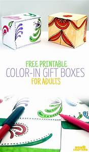 free printable color in gift boxes for adults crafts