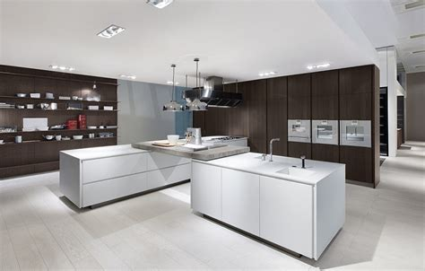modern spacious kitchen designs  varenna