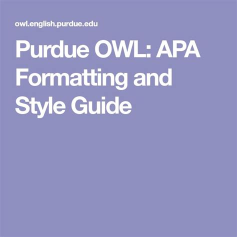 You can download the word files to use as templates and edit them as needed for the purposes of your own papers. Purdue OWL: APA Formatting and Style Guide | Writing lab, Apa essay format, Apa sample paper