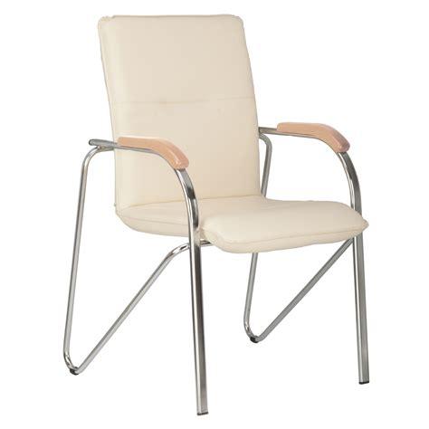 chaise visiteur bureau lot de 2 chaises fauteuils de conf 201 rence samba blanc