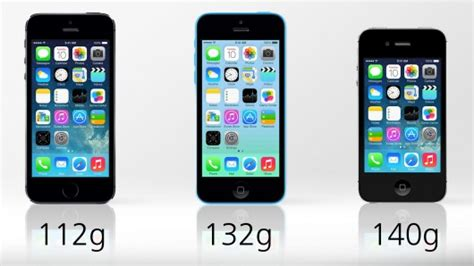 iphone 4s weight iphone 5s vs iphone 5c vs iphone 4s