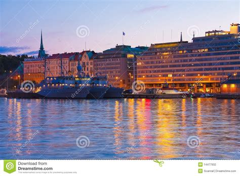 evening scenery  helsinki finland stock photography