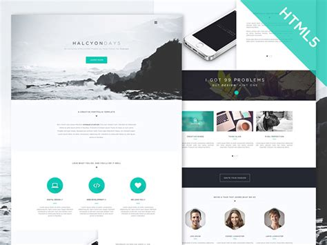 Webstite Templates Halcyon Days Free Html5 Website Template Freebiesbug